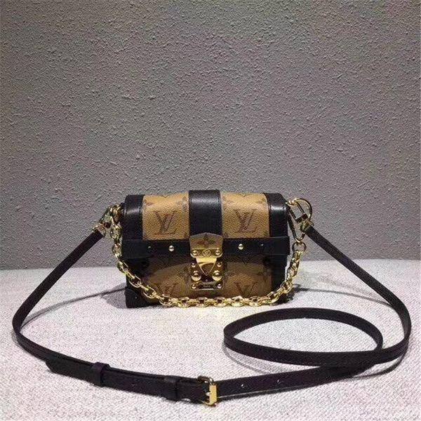Style rétro chaîne sac avec imprimé classique Boîte Forme Sac à bandoulière mignon Mini sac à main pour les femmes M63891
