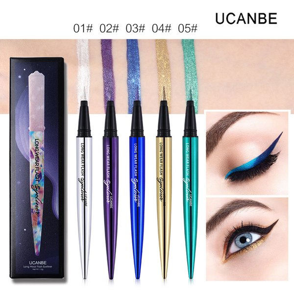 UCANBE Shimmer Flash Liquid Eyeliner Pencil Makeup Long Lasting Quick Dry Glitter Eye Liner Pen Waterproof Colorful Smooth Eye Cosmetic Set