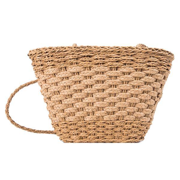 Straw Bag Rattan Bags for Women 2019 Hand Woven Bohemian Summer Beach Handbag Travel Female Tote Wicker Bag Luxury Handbags
