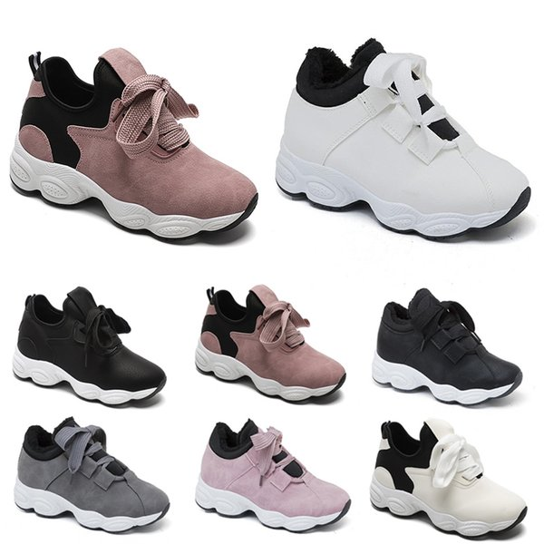 Non-Brand free shipping running shoes for women Chaussures White Black Pink Grey Suede fashion Sports Sneakers 36-40 Style 213