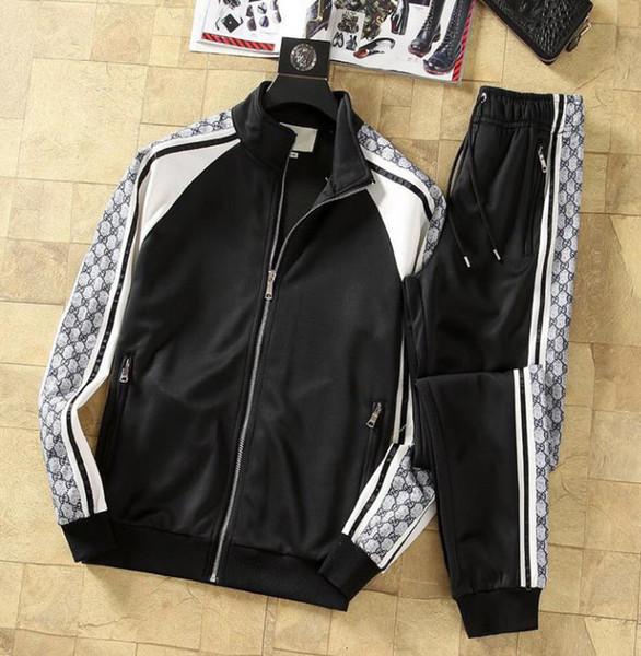 19ss Mode Hommes Survêtements Designer Haute Qualité Costume De Luxe Hommes Designer Veste Cardigan Sports Survêtement Deux Pièces Asiatique Taille M-3XL