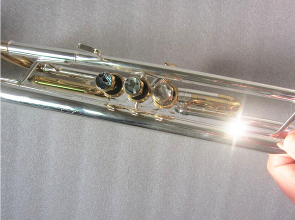 Trompette Baha plaquée argent nouvelle clé corps en plaqué argent LT180S-72 B sonnette de trompette professionnelle plate Instruments de musique haut de gamme Corne en laiton