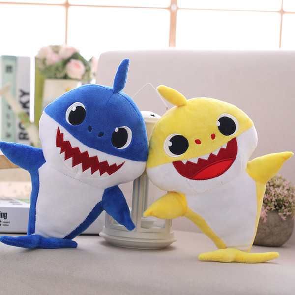 Wholesale 30cm(11.8inch) Baby shark With Music Cute Animal Plush 2019 New Baby Shark Dolls Singing English Song For Children