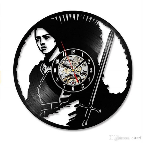 Modern Art 2019 Game and Thrones personality vinyl wall clock modern home decor crafts creative handmade