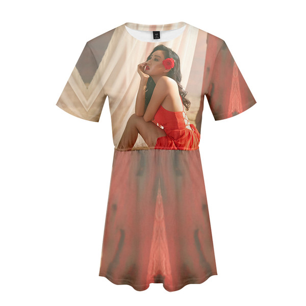 MAMAMOO 3D Printed Dress for Women Fashion Summer Short Sleeve Dresses 2019 Hot Sale Kpop Casual Trendy Streetwear Clothes