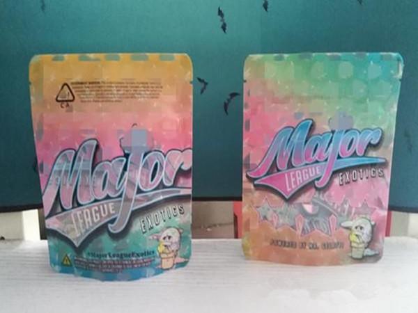 best selling vape Dry Herb Flower Packing Bags Major LEAGUE exotics bags gusher 3.5 mylar smell proof bag zip lock packaging