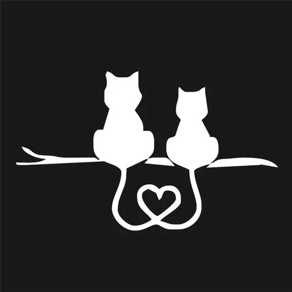 Car Stickers Car Truck Decal Vinyl Graphics Side 3D Cute Cat Body Decal For Vehicles zz120 dropship
