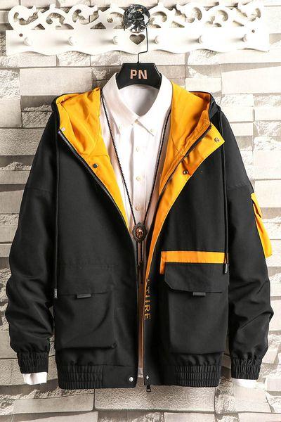 Marca di alta qualità manica lunga nuovo designer moda uomo sciolto giacca a vento e colori naturali per la moda casual con taglia M-4XL B100131Q