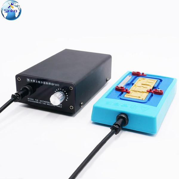 Plate-forme de montage en couches de la carte mère MIJING CH3 pour le retrait de colle NAND HDD de l'unité centrale Iphone X / XS / XSMAX