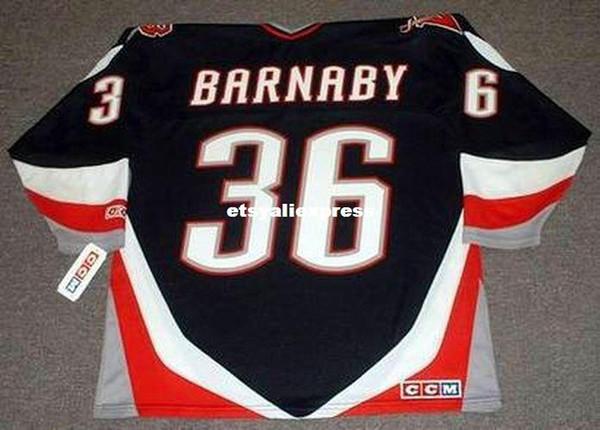изготовленный на заказ Mens Мэтью Барнаби Баффало Сэйбрс 1996 СКК кофта дешевые ретро хоккей Джерси