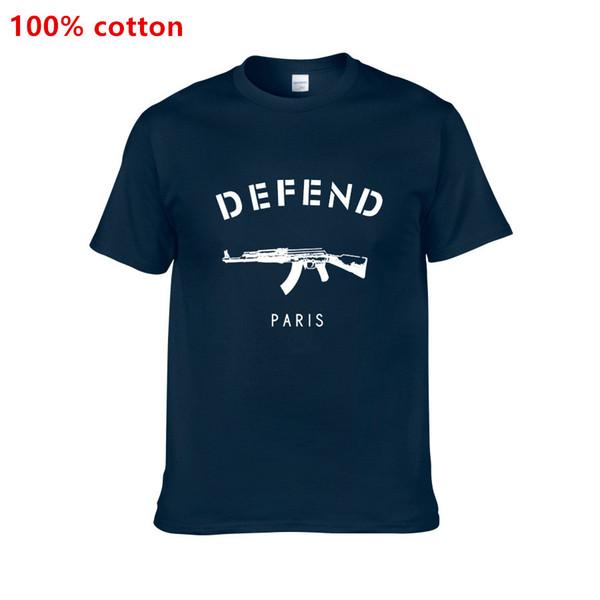Бесплатная доставка летом горячий стиль футболка с короткими рукавами бренда DEFEND Paris мужская футболка с коротким рукавом T6