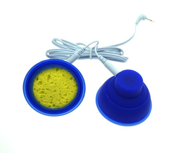 Silikon Adsorption Elektrode Brustvergrößerer Klitoris / Nippel Sauger Pumpe Massagegerät Electro Sex Toys Elektroschock Zubehör