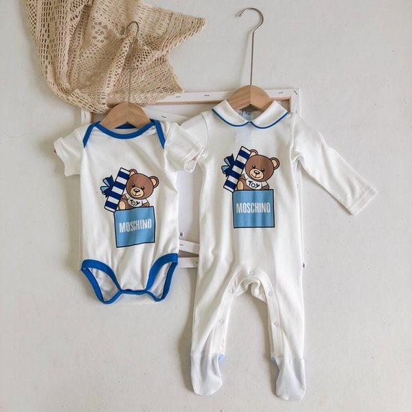 Yeni Bebek Rompers Bahar Sonbahar Erkek Bebek Giyim Yeni Romper Pamuk Yenidoğan Çocuk karikatür Bebek Tulumlar 0919