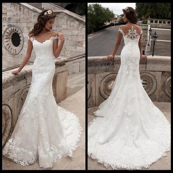 annata abiti da sposa bianco dimensioni boho più piena del merletto paese primavera sirena modesti abiti da sposa 2019 abiti delle vestido da sposa