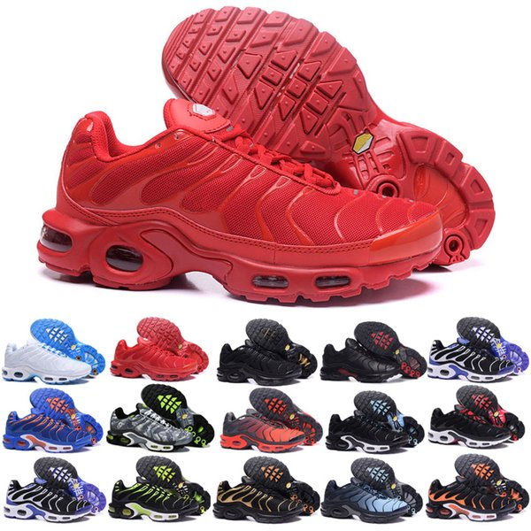 top popular 2019 Top Air Mercurial TN plus red Black White Orange Running wuqidhnmlgb outdoor TN shoes Women Mens Trainers Sports Sneakers 40-46 KL53 2020