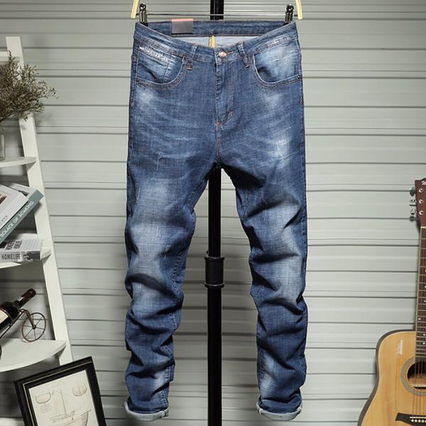 Jeans Männer neue dünne Bottom Hose Junge elastische koreanische Art-Hose-Jeans für Männer