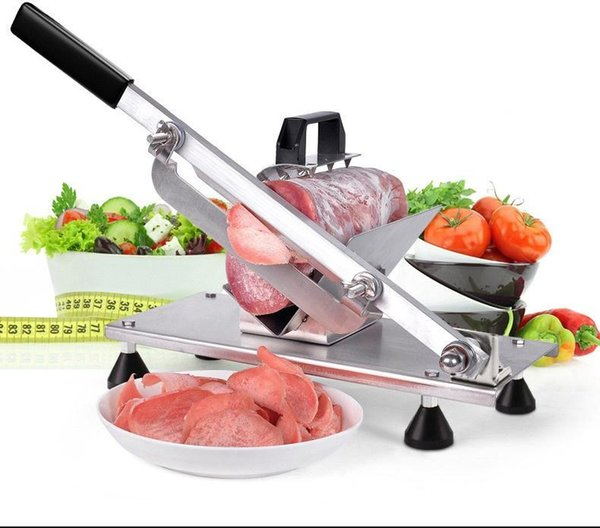 Commercial household manual lamb beef slicer meatloaf frozen meat cutting machine Vegetable Mutton rolls hand mincer cutter