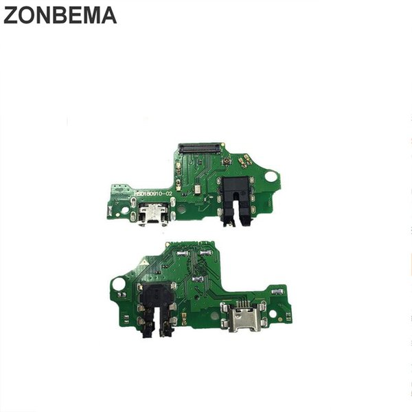 ZONBEMA USB Charger Dock Board Connector Charging Port Flex Cable Compatible For Huawei Y9 2019 USB Dock Port JKM LX1 LX2 LX3
