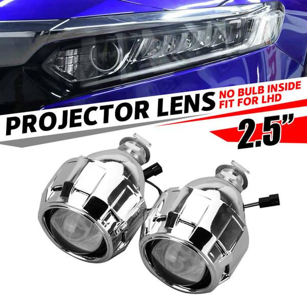 2 adet 2.5 inç Araba Styling Motor HID Projektör için LHD Bi-Xenon Mini Bixenon Lens Shroud Far H1