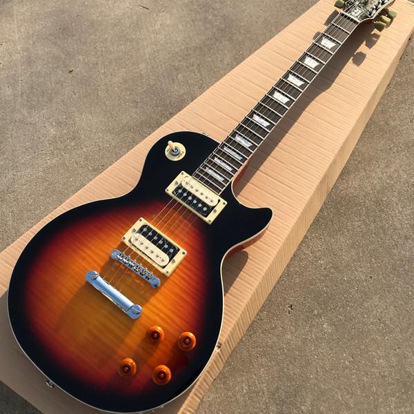 Neues Custom Shop, Palisander Griffbretter, Tiger Maple Top, Zebra Pickup, 6-saitige Gitarre, Kostenlose Lieferung