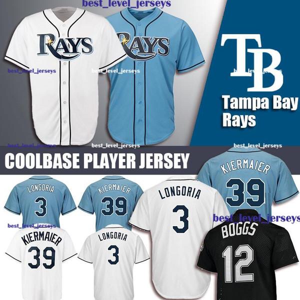 meet 169bb 5b986 2019 Rays Jersey 3 Evan Longoria Jersey 39 Kevin Kiermaier Jersey 12 Wade  Boggs Tampa Bay Coolbase Jerseys From Best_level_jerseys, $32.43 | ...