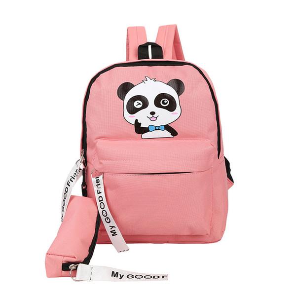 Mochilas Marca Mulheres Homens Simples Panda Dos Desenhos Animados Impressão Mochila Para Meninas Adolescentes Meninos Laptop Escola Sacos de 2019