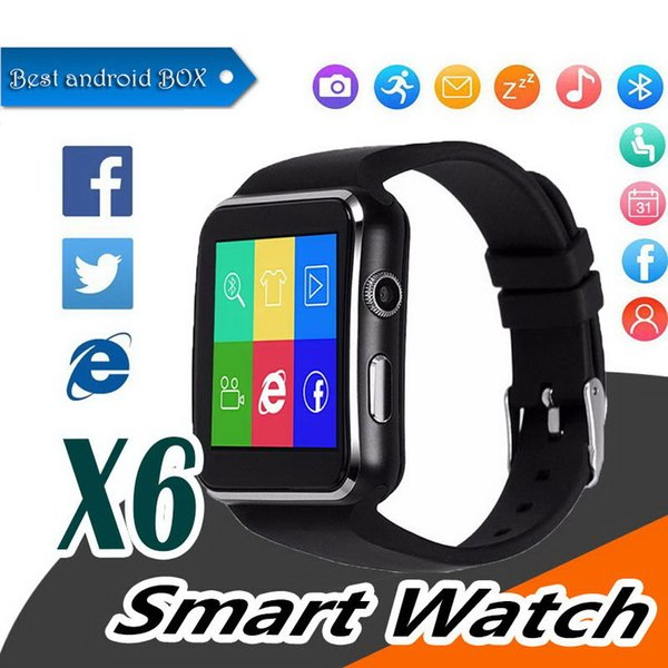 Bluetooth Smart Watch X6 E6 Smartwatch sport watch For Apple iPhone ios Android Phone With Camera Support SIM Card smartwatch cellphone