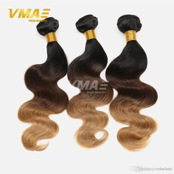 9A Ombre Malaysian Virgin Hair Body Wave 3pcs Malaysian Body Wave 3 Toned Ombre 1b 4 27 30 Biondi Fasci di tessuto per capelli umani