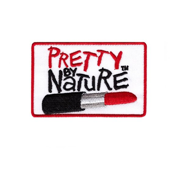 pretty by Great red lipstick brand clothing trousers patch embroidery badge free shipping diy can be custom