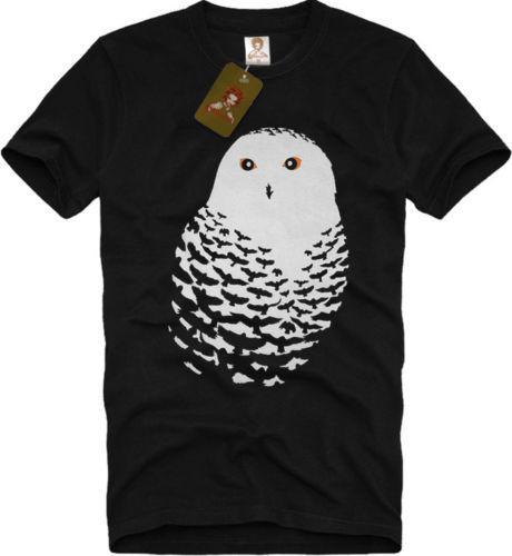 T-SHIRT natura uccello scuro notte Banksy tee S-XXL Long Sleeve Hoddies unisex hoddie manica corta Tee Uomini Arte OWL Graphic design