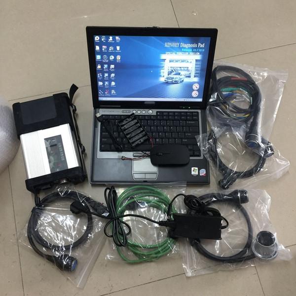 V09.2019가 장착 된 MB Star C5 SD C5 랩탑 D630 4G에 설치된 자동차 및 트럭 용 소프트웨어 HHT 360GB SSD