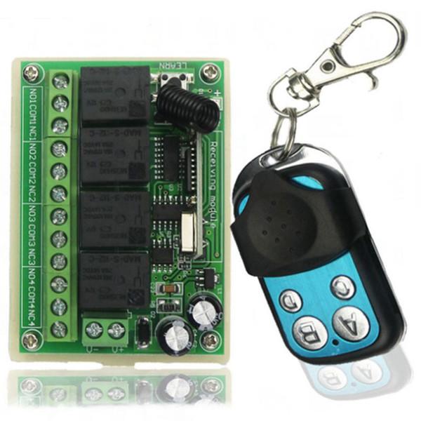 Araba Kuyruk Plakası Uzaktan Anahtarı Kamyon Bagaj Kapağı Kontrol 433 Mhz DC12V 10A 4CH Kablosuz Röle Modülü DIY Akıllı Ev Kitleri A2