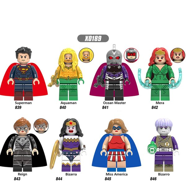 Building Blocks Super Heroes Aquaman Ocean Master Mera Reign Bricks Action Figures For Children Gift Toys X0189