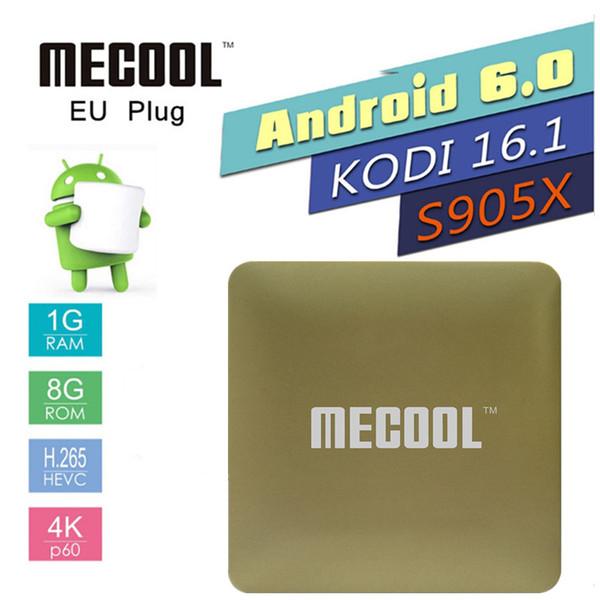 MECOOL HM8 TV Box Amlogic S905X 1 Go de RAM 8 Go de ROM DDR3 Quad Core 64 bits Android 6.0 2.4G WIFI KD 16.1 Smart Mini PC PK X96