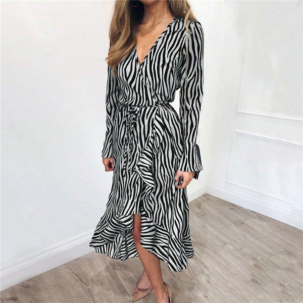 abito in chiffon zebra C2
