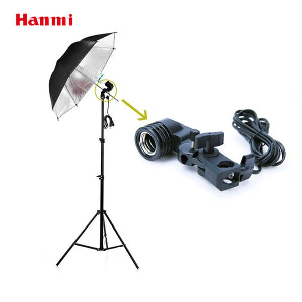 Kit studio fotografico Hanmi Accessori fotografia E27 Flash Adattatore per presa singola girevole Staffa Softbox Studio fotografico Luce video Lampada ...