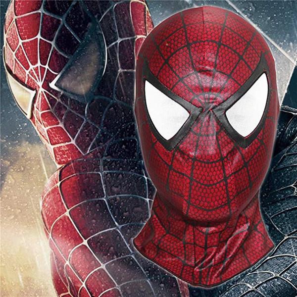 Adult Superhero red Homecoming Mask Cosplay Costume Full Face Masks black Spider Man Masque helmet Halloween props