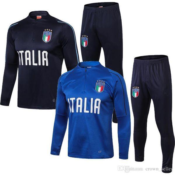 2018 World Cup Italy soccer Jersey TRAINING SUIT De Rossi Bonucci Verratti Chiellini INSIGNE Belotti Football Uniform TRACKSUIT SPORTSWEAR