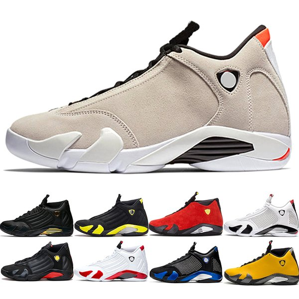 14 14s Basketball Shoes Mens Trainers Candy Cane Yellow SUP Black Red Men Athletic Sports Sneakers Size 40-47 Outdoors Free Shipping