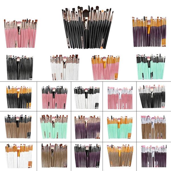 20 Pcs Maquiagem Cosmética Pincéis Definir Pó Foundation Sombra Delineador Lip Escova Ferramenta Make Up Brushes ferramentas de beleza pincel de maquiagem