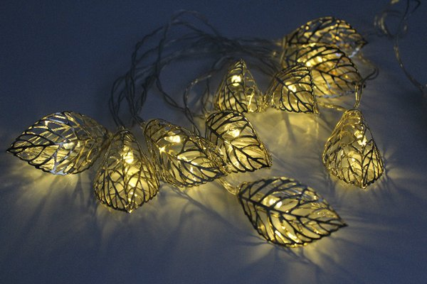 Luces de decoración navideña Cálido blanco calabaza luces de cadena Luces de decoración de Halloween con 10 cuentas LED Dropshipping
