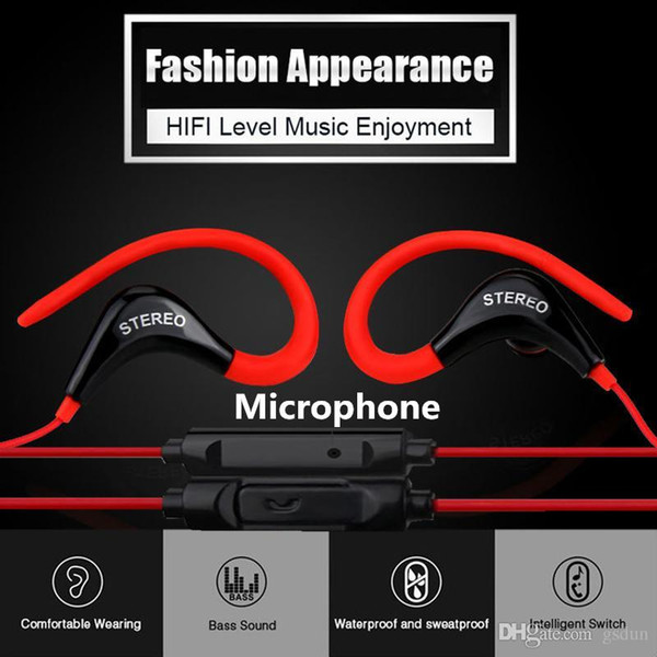 best selling Sports Headphones with In-ear Earhook SF-878 Earphone Wired Mini Stereo Headset Sport Music Earphone with Microphone for Xiaomi Smart Phones