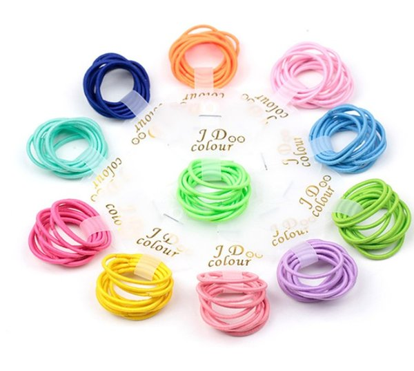 10pcs/lot DIY hair hoop Good Quality Elastic Hair Bands For kids Ponytail Holder Tie Gum Scrunchie Girls Hair Accessories