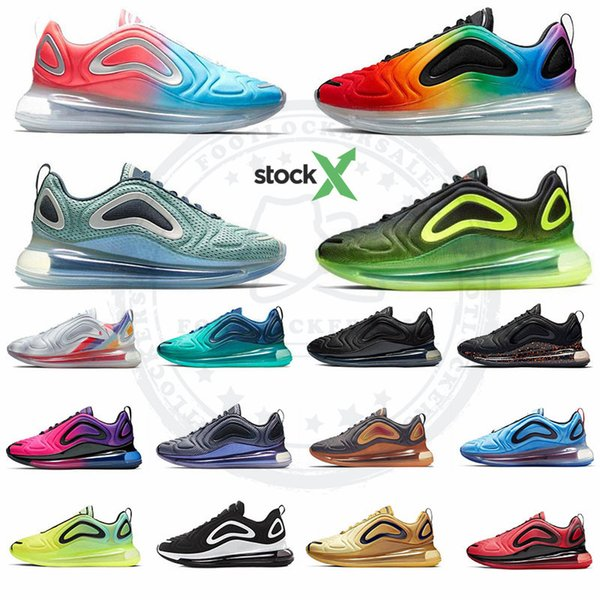 top popular 2019 Air Designer Be True Volt Future Northern Lights Day Neon Running shoes throwback Sunset Mens Womens Trainers Sports Sneakers US 5.5-11 2019