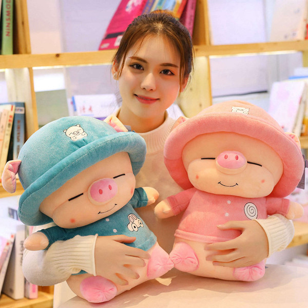 35cm Kawaii Pig Plush Toys Stuffed Animals Cute Plush Pig with hat Accompany Doll Toys for Kids Girls Birthday Valentine Gifts