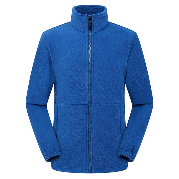 Warm Zipper Solid Uomo stand allentate giacche a vento colletto a maniche lunghe Sport Outdoor cappotti Outwear pile outwear