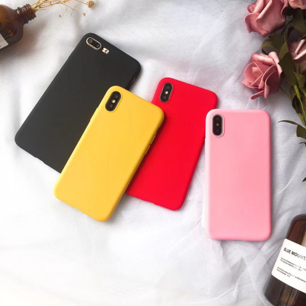 8x Cover iPhone 7 Silicone Custodia iPhone 7 Morbido Opaco