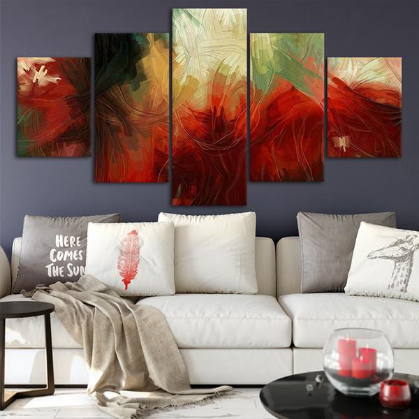 Acquista Canvas Poster Home Decor Wall Art Quadro 5 Pezzi Abstract Style 1  Quadri Soggiorno HD Stampe Immagini Moderne A $21.69 Dal Niartwork | ...