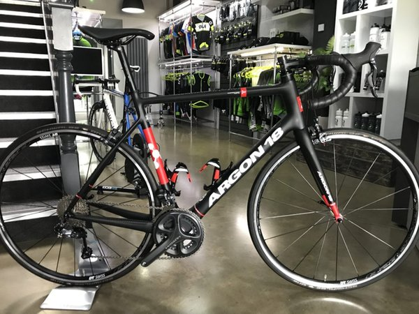 Argon 18 Carbon Road DIY Bikes Sale Super Light Bikes Carbon Road Bicycle Bikes Original ULTEGRA groupset