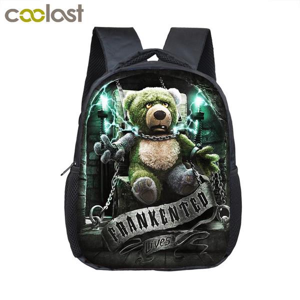 Punk Gothic Dark Bear / Unicorn / Lion  Dragon Small Backpack Boy Children School Bags Kids Mini Kindergarten Backpack